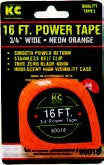 "KC Professional 12FT (3.5m) Power Tape 1/2"" Wide Neon Orange - Fresh Colony"