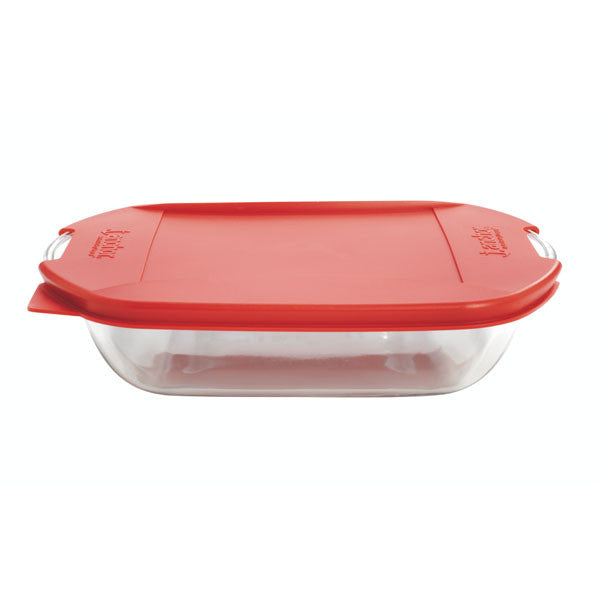 "Anchor Hocking 91819 TrueFit Cake Dish with Cherry Lid, 8"", Clear - Fresh Colony"