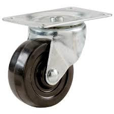 Shepherd Hardware 9477 2-Inch Soft Rubber Swivel Plate Caster, 90-lb Load Capacity - Fresh Colony