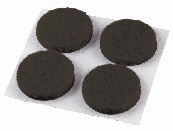 "1/2"" Medium Duty Round Brown Felt Pads - Fresh Colony"