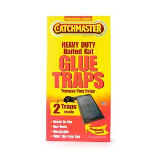 Catchmaster 402 Baited Rat, Mouse and Snake Glue Traps Professional Strength, 2-Pack - Fresh Colony