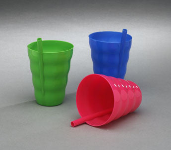 Sip - a - cup, with Built-in Straw - Colors Vary - Qty:1 - Fresh Colony