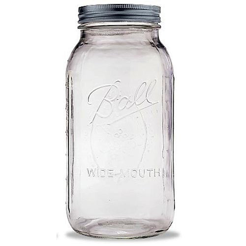 Ball Wide Mouth Half Gallon 64 Oz Jars with Lids and Bands, Set of 6 - Fresh Colony