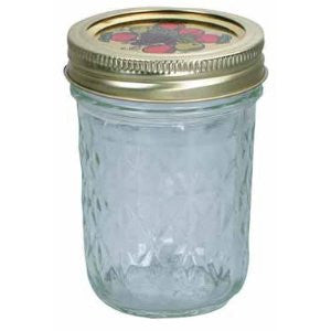 Ball Jar Crystal Jelly Jars with Lids and Bands, 8-Ounce, Quilted - Fresh Colony