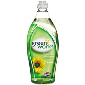 Green Works 30168 Natural Dishwashing Liquid, 22 fl oz Bottle, Original - Fresh Colony