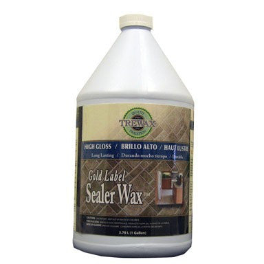Trewax Vinyl and Linoleum Gold Label Wax Gloss Sealer, 1-Gallon - Fresh Colony
