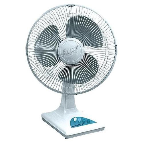 "Comfort Zone CZ121 - 12"" Oscillating Fan, White - Fresh Colony"