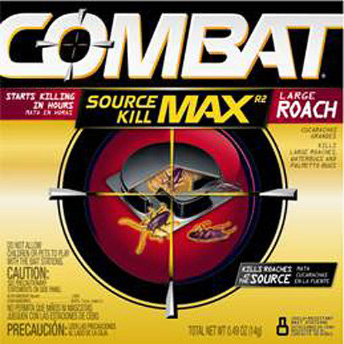 Combat Source Kill Max R2 Large Roach, 8 Child-Resistant Bait Stations - Fresh Colony
