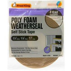 "3/4"" X 1/4"" X 17' Poly Foam Weatherseal - Fresh Colony"