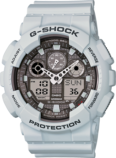 G-SHOCK - GA-100 – ICE GRAY - Fresh Colony