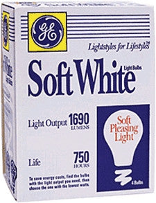 GE 4PK 75W SW Bulb - Fresh Colony