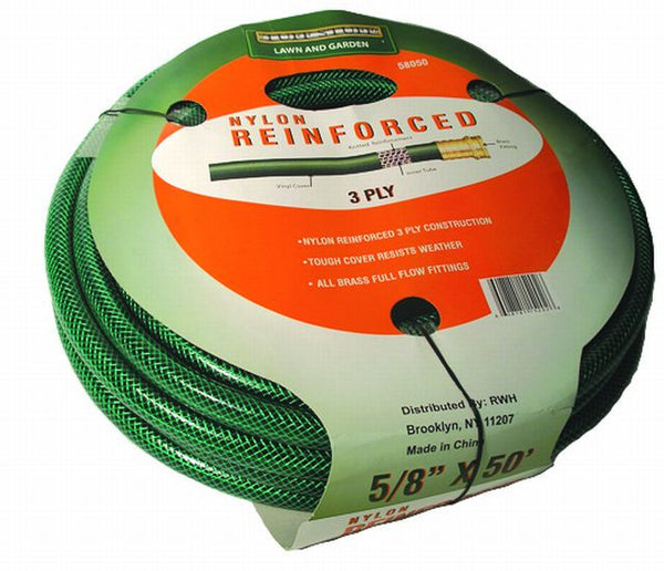 "premium garden & Commercial Flexible 3 ply Hose 5/8"" x 50 feet hb5850l - Fresh Colony"