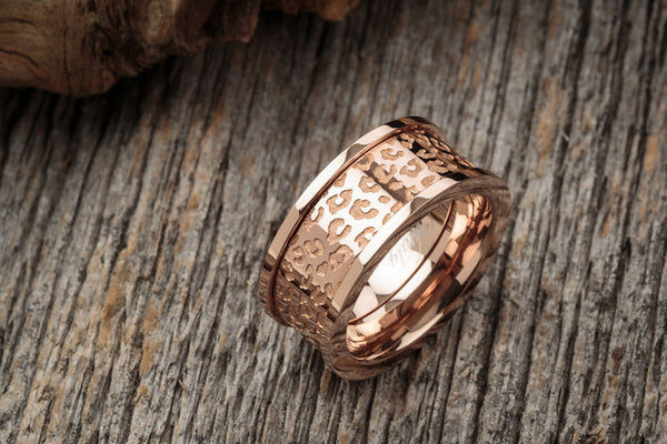 Vitaly - Cheetah x Rose Gold Ring - Fresh Colony  - 1