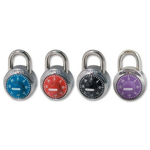 Master Lock 1505D Combination Locks in Various Colors with Anti-Shimming Protection - Fresh Colony