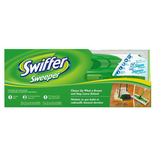 Swiffer Sweeper Complete Pack with 2 Dry Sweeping Cloths & 1 Wet Mopping Cloths, 1 ct (Packaging may vary) - Fresh Colony