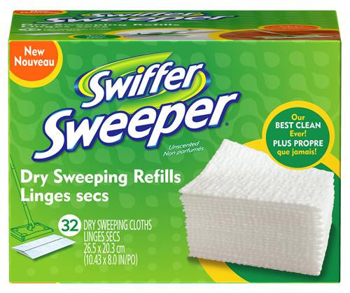 "Swiffer Sweeper Dry Cloths Refill 8 "" X 10.4 "" 32 Count - Fresh Colony"