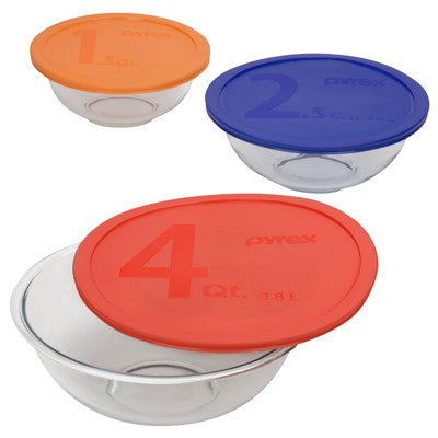 Pyrex 1085308 Smart Essentials 6-Piece Mixing Bowl Set - Fresh Colony