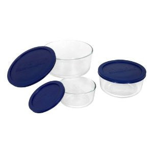 Pyrex Simply Store 6-Piece Round Glass Food Storage Set - Fresh Colony