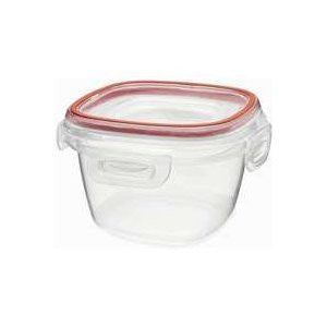 Rubbermaid Lock its 2 Cup Square Food Storage Container with Lid