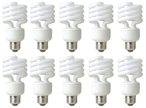 Satco S7211 9-Watt Medium Base T2 Mini Spiral, 2700K, 120V, Equivalent to 40-Watt Incandescent Lamp for Enclosed Fixtures with Energy Star Rated - Fresh Colony