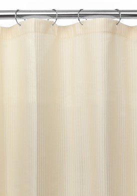 Carnation Home Fashions Fabric Shower Curtain Liner with Weighted Bottom Hem - Fresh Colony