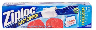 Ziploc Slider Freezer Bags - 1 gal - 10 ct - Fresh Colony