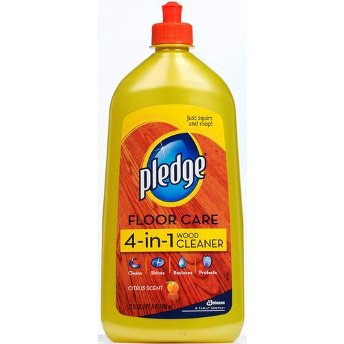 Pledge FloorCare Wood Squirt & Mop - Lemon - 27 oz - Fresh Colony