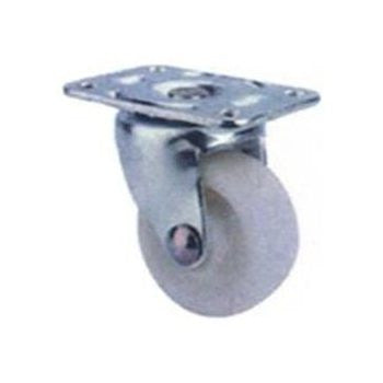 "1-1/4"" White Plate Casters - Fresh Colony"