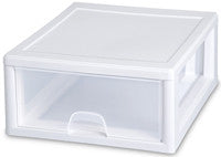 Sterilite 23018006 16 Quart Stacking Drawer, Clear - Fresh Colony