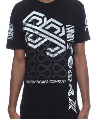 8&9 Clothing - Wavy T Shirt Black - Fresh Colony  - 1