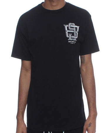 8&9 MONOGRAM T SHIRT BLACK - Fresh Colony  - 1