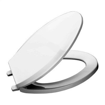 Achim Home Furnishings TOWDELWH04 19-Inch Fantasia Elongated Toilet Seat, Wood White - Fresh Colony