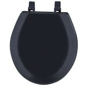 Achim Home Furnishings TOWDSTBK04 17-Inch Fantasia Standard Toilet Seat, Wood Black - Fresh Colony