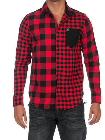 Young and Reckless Buffalo Squared Button Down Shirt - Fresh Colony  - 1