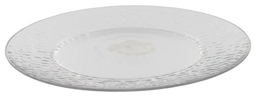 "10"" Hammered Plastic Dinner Plate in Clear - Fresh Colony"