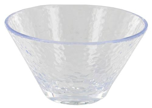 "Arrow Plastic Manufacturing Company 00892 6"" Hammered Plastic Bowl, Clear - Fresh Colony"