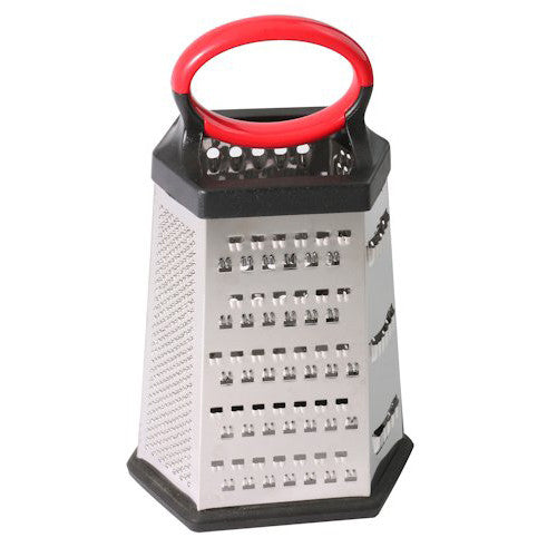 6-sided Stainless Steel Box Grater for Hard Cheese, Parmesan, Vegetable - Fresh Colony