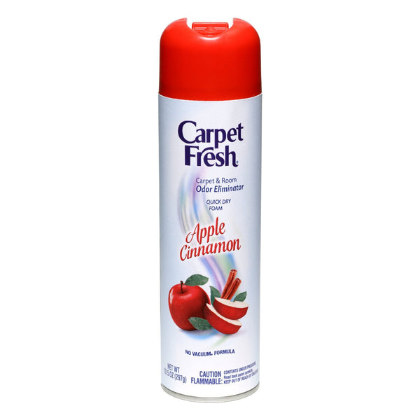 Carpet Fresh 280174 No-Vacuum Aerosol Foam Carpet Odor Eliminator, 10.5 oz. Apple Cinnamon Fragrance - Fresh Colony