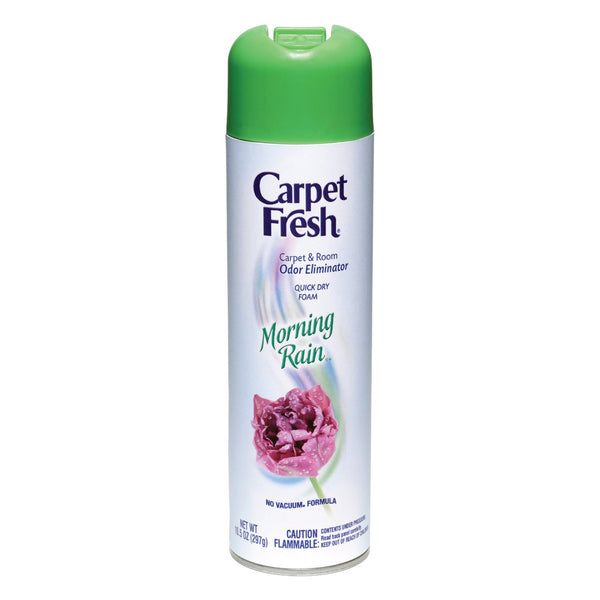 Carpet Fresh 280136 No-Vacuum Aerosol Foam Carpet Odor Eliminator, 10.5 oz. Morning Rain Fragrance - Fresh Colony