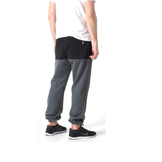 KENNEDY DENIM CO - COLOR BLOCK JETSETTER SWEATS (BLACK/CHARCOAL) - Fresh Colony  - 1