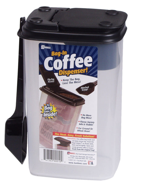 Buddeez Coffee and More Dispenser with Scoop - Fresh Colony