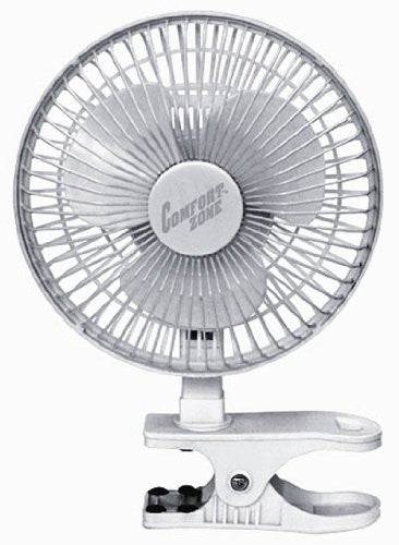 "Comfort Zone CZ6C - 6"" Clip-On Fan, White - Fresh Colony"