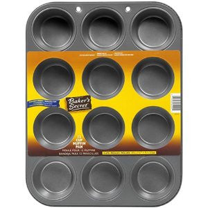 Baker's Secret Basics Nonstick 12-Cup Muffin Pan - Fresh Colony