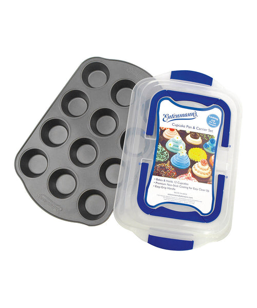 ENTENMANNS BAKEWARE 12-Cup Cupcake/Muffin Pan with Carrier Cover - Fresh Colony