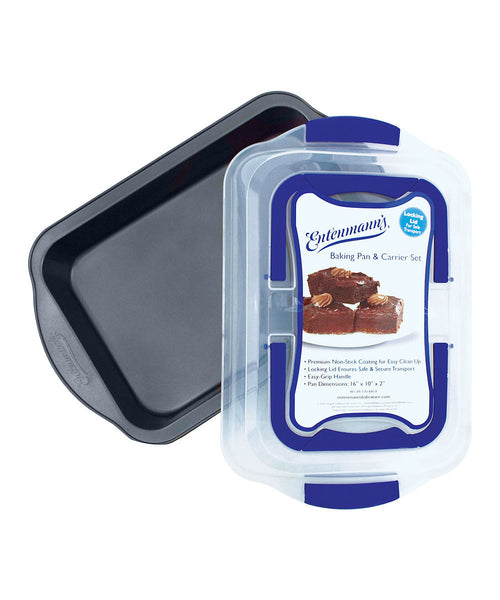 ENTENMANNS BAKEWARE 9-Inch by 13-Inch Baking Pan with Carrier Cover - Fresh Colony