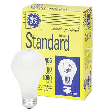 GE Lighting 41026 865-Lumen A19 Light Bulb with Medium Base, 60-watt, 4-Pack - Fresh Colony