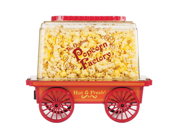 BELLA 13554 Hot Air Popcorn Maker, Red and White - Fresh Colony