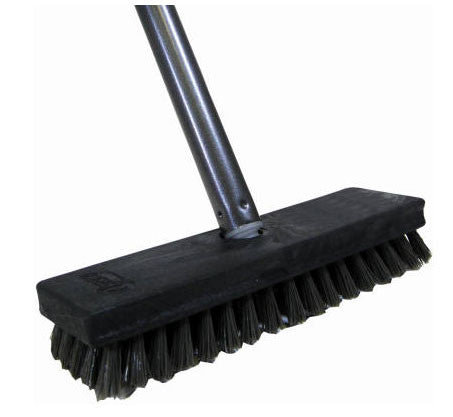 Quickie Deck Scrub Brush with 48-Inch Handle - Fresh Colony
