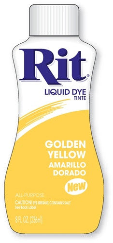 Rit Dye Liquid Fabric Dye, 8-Ounce, Golden Yellow - Fresh Colony