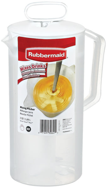 "Rubbermaid - Servin Saver White Mixing Pitcher 2 Qt, Plastic, 4 3/4"" Dia - Fresh Colony"